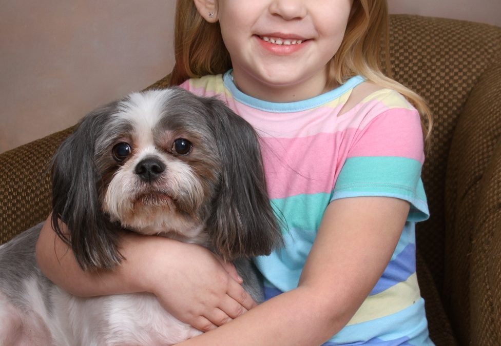 Young Child and Dog Portrait — How Sweet they are Together.
